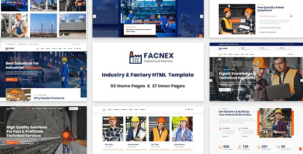 Best Industry & Factory HTML Template