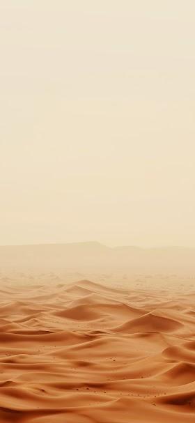 خلفية رمال الصحراء البنية تحت سماء الظهيرة