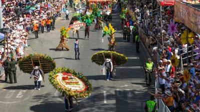 Simbolis akhir dari perbudakan dengan Festival Bunga Medellin Kolombia