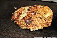 Yamaimo-Yaki with Pork and Oysters at Mizuno Okonomiyaki in Osaka, Japan