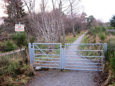 Deeside walks: a gate in the way around Ballater Golf course