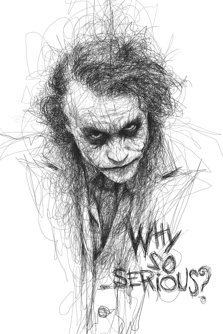 14-Heath-Ledger-The-Joker-Batman-Vince-Low-Scribble-Drawing-Portraits-Super-Heroes-and-More-www-designstack-co