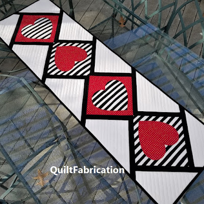Love Match table runner by QuiltFabrication