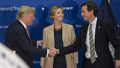 Trump's son-in-law did not comment on the news, so it's not clear why the  mistake could happen. Donald Trump, Ivanka Trump, Jared Kusher.