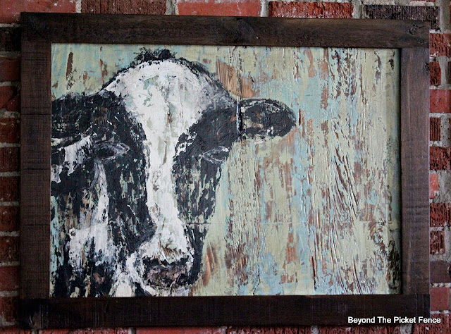 Folk Art Abstract Lamb Cow