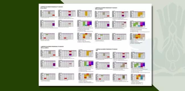 Kalender Pendidikan DI Yogyakarta Tahun Pelajaran 2020-2021