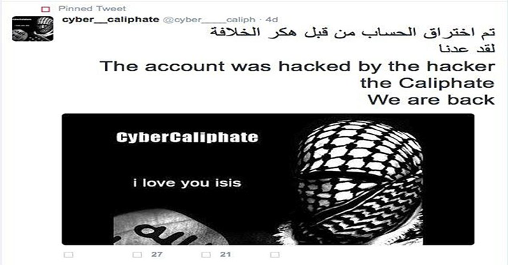 ISIS Supporters Hack 54,000 Twitter Accounts and Posts Personal Data of Heads of the CIA and FBI