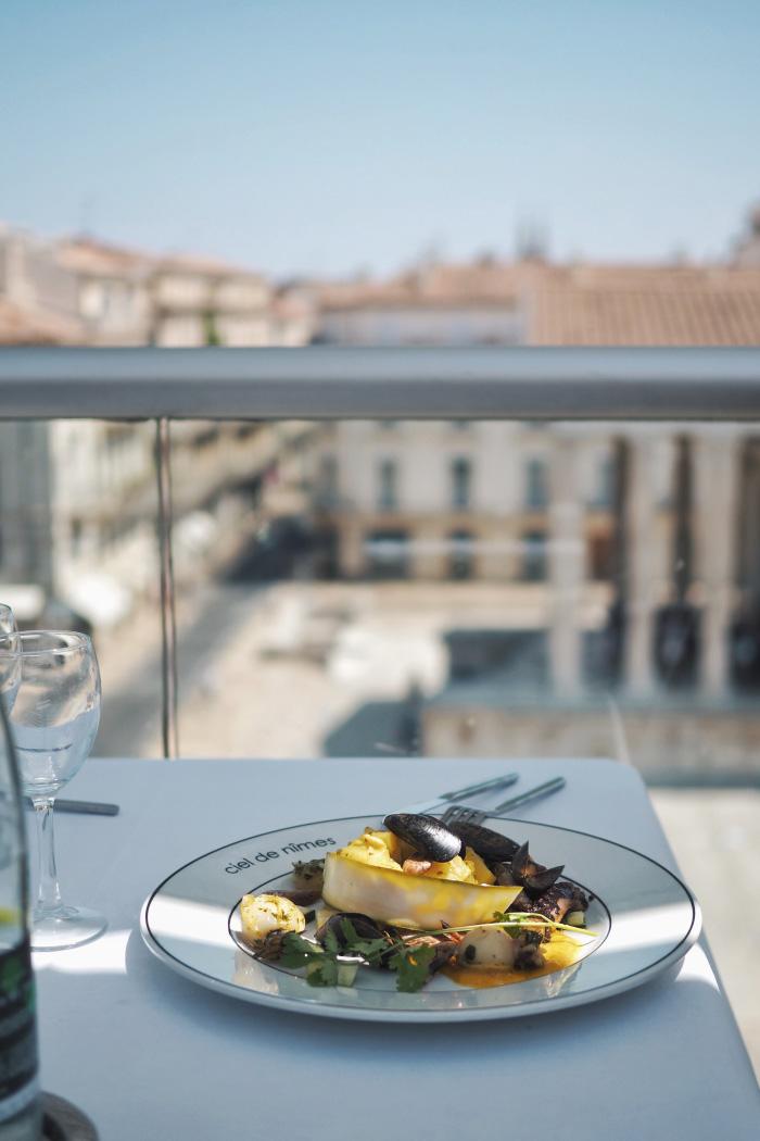 Déjeuner au restaurant Ciel de Nîmes