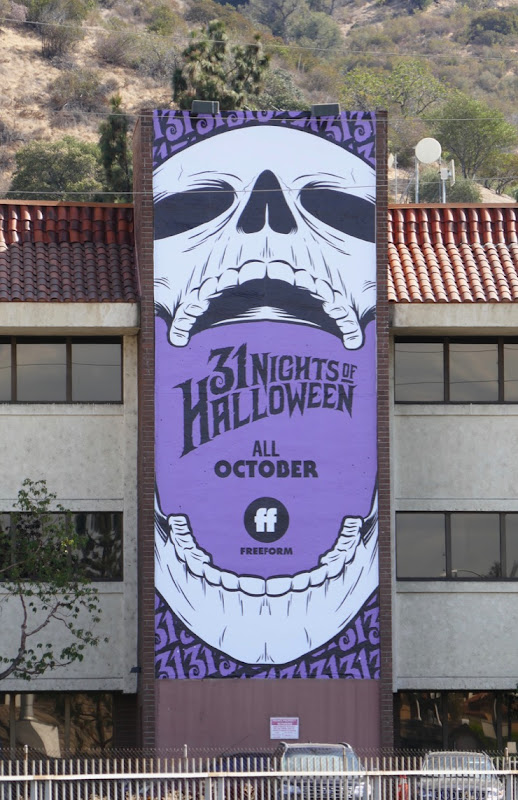 Freeform 31 Nights Halloween Skull 2018 billboard