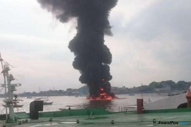 Ledakan Kapal Jukung di Sungai Musi Makan Korban