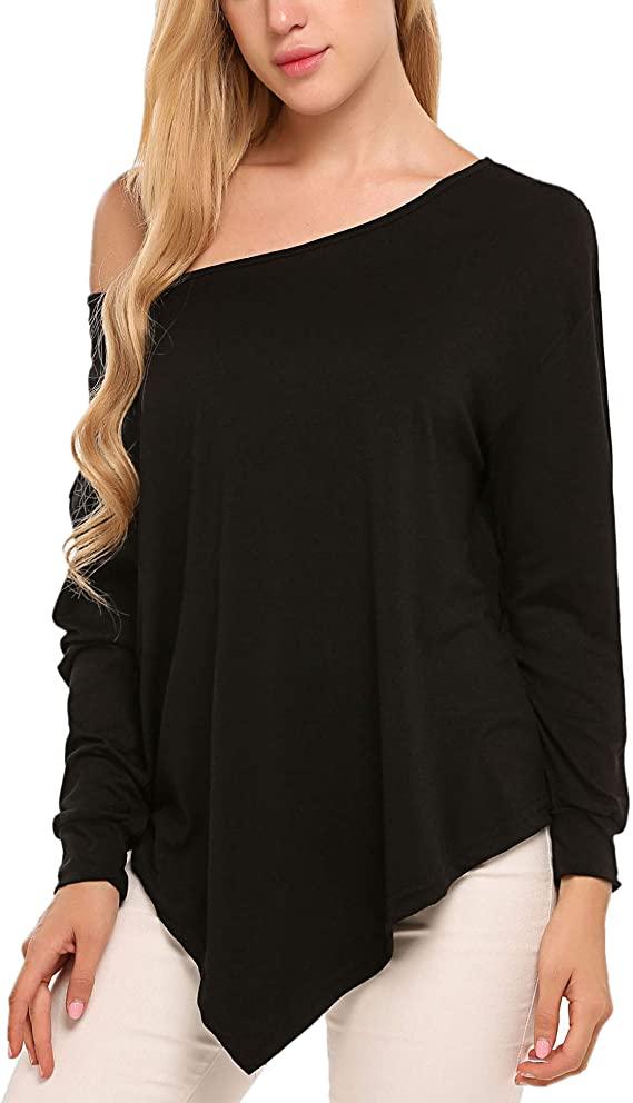 60%  off  UNibelle Women's Off Shoulder Blouse Loose Batwing Sleeve Tops