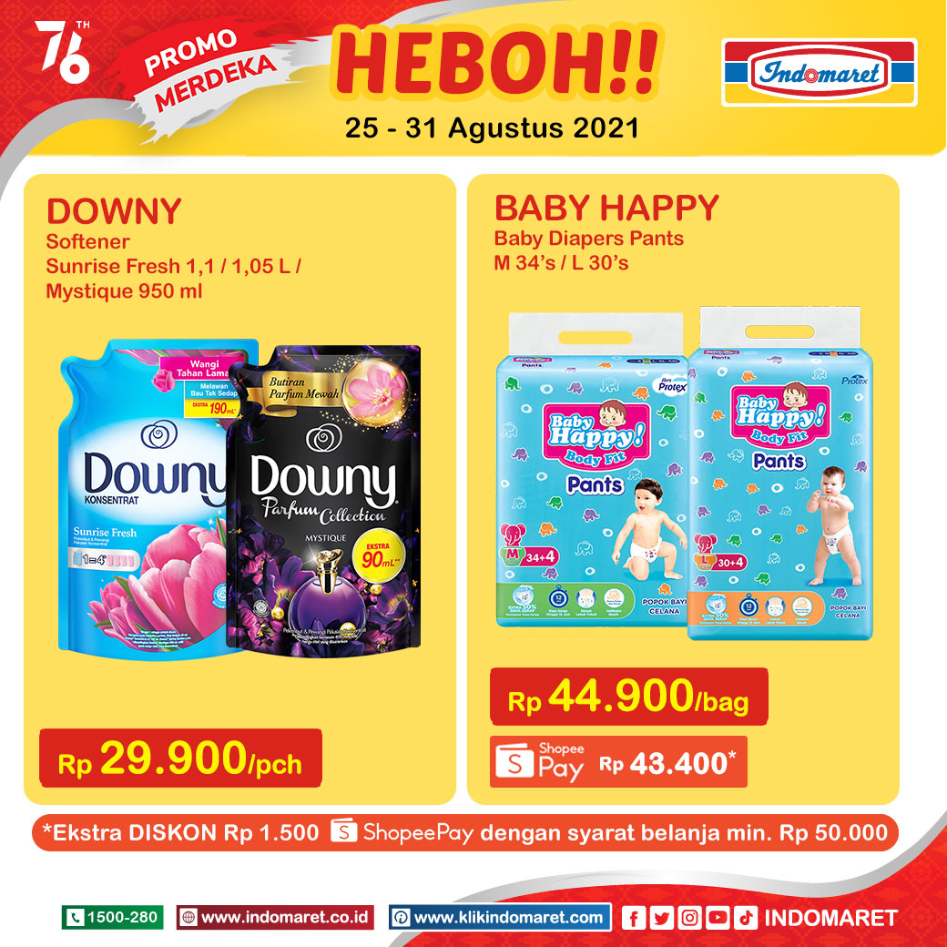 Promo INDOMARET Heboh, Product of The Week 25 - 31 Agustus 2021
