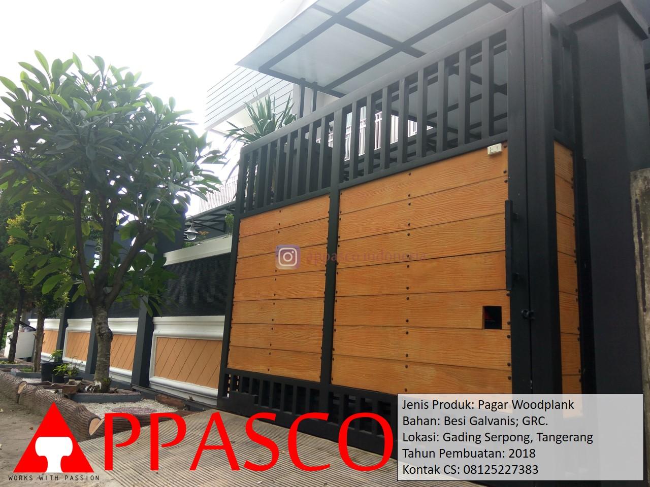 Pagar Lipat Woodplank di Garding Serpong Tangerang