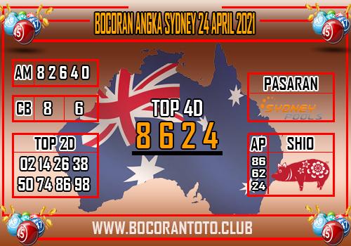 Bocoran Syair Sydney 24 April 2021