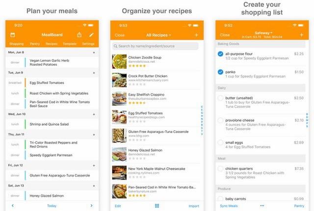 تطبيق لتنظيم وتخطيط الوجبات الغذائية