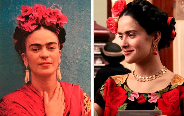 Frida Kahlo penteado flores foto e fillme