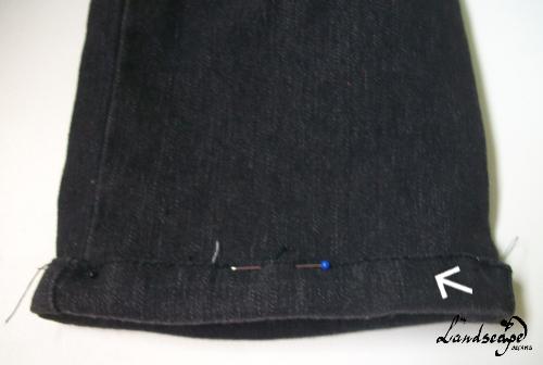 como fazer bainha de calça jeans utilizando a bainha original