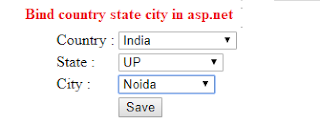 bind country state city in asp.net