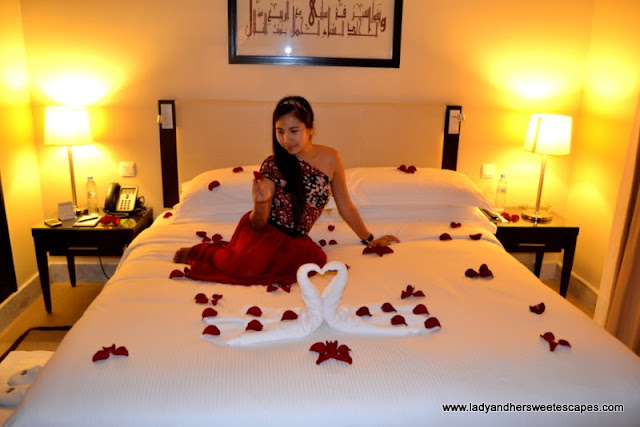 Bed of roses at The Cove Rotana