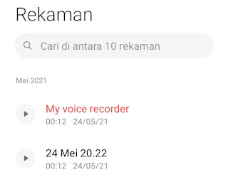 rename your recorded voice