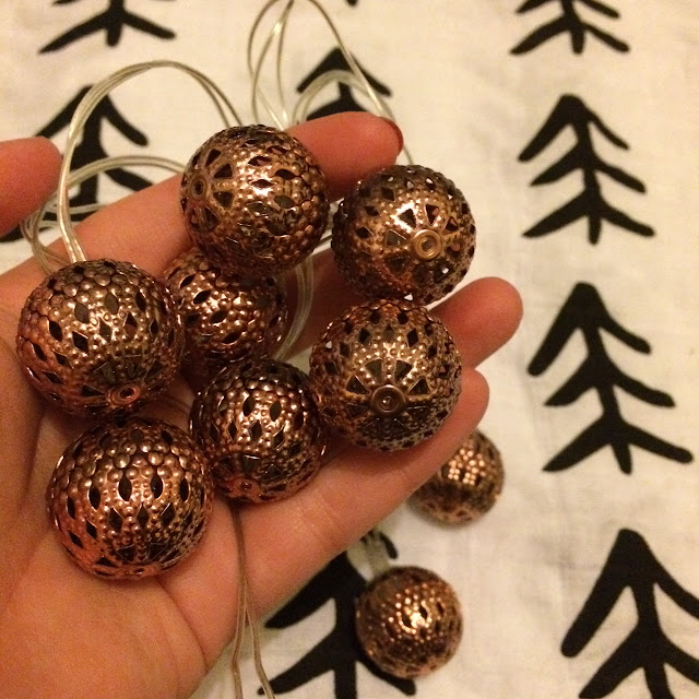 Copper ball fairy lights poundkand, five under £5 October 2016