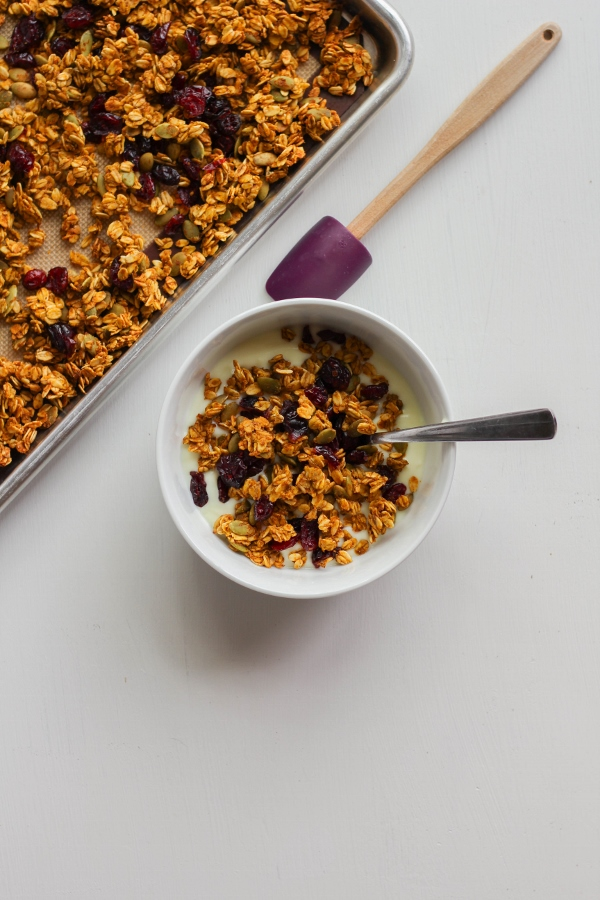 Pumpkin Spice Granola | The Chef Next Door #PumpkinWeek