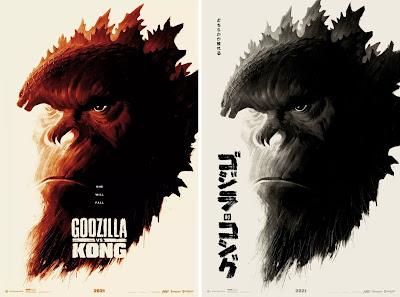 Godzilla vs Kong Screen Print by Phantom City Creative x Mondo