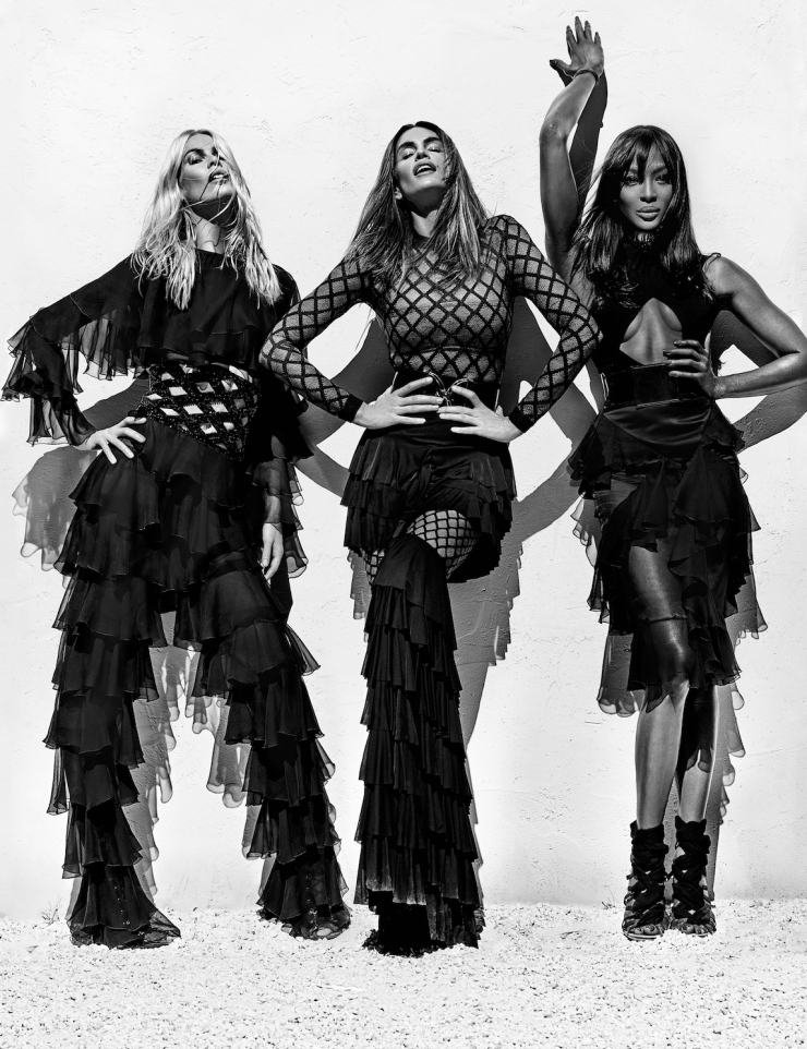 NAOMI, CINDY & CLAUDIA: SUPERMODELS STRIKE A POSE FOR BALMAIN SS 2016 CAMPAIGN