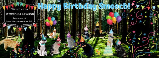 Happy Birthday Smooch Mewton-Clawson Cats The B Team Pawty ©BionicBasil®