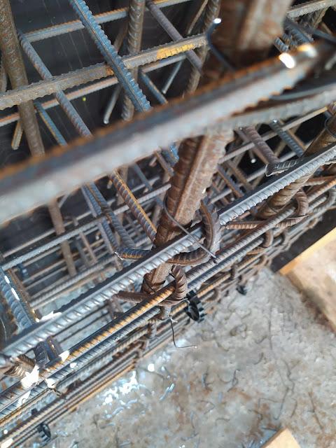 Örnek Şantiye Stajı Defteri Fotoğraflı, demir donatı, etriye, çiroz