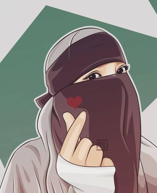 1001 Gambar Kartun Muslimah Berhijab Cantik Bercadar Kacamata Nan Comel Kanalmu