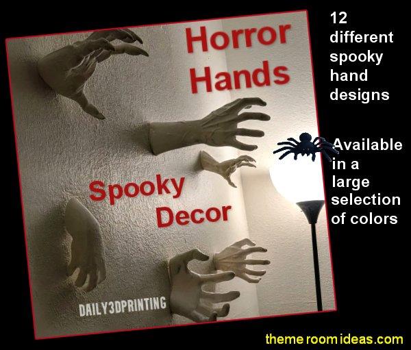 Horror Hands  Wall Mounts Spooky Decor halloween wall decor gothic home decor