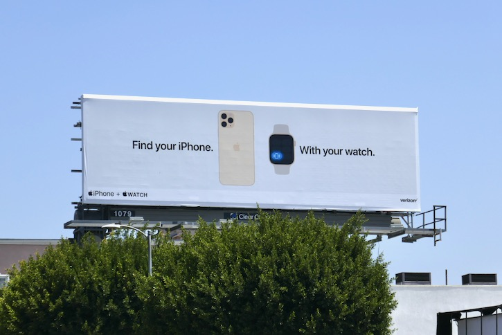 Find iPhone with Apple Watch billboard