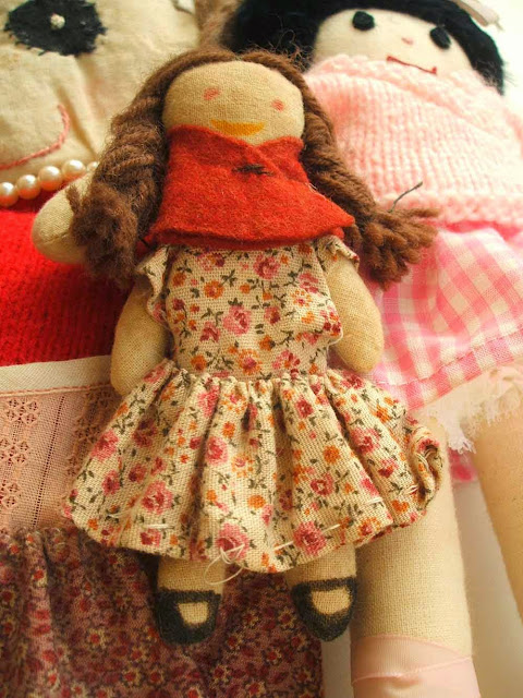 handmade calico doll made by me in 1980s with my mother