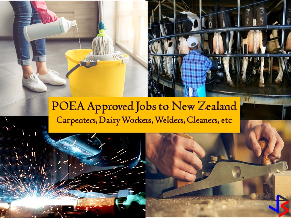 The following are jobs approved by the Philippine Overseas Employment Administration (POEA) to New Zealand where you can apply this month of September 2018!   Please reminded that jbsolis.net is not a recruitment agency, and all information in this article is taken from POEA job posting sites and posted for the general information of the public.  The contact information of recruitment agencies is also listed. Just click your desired jobs to view the recruiter's info where you can ask a further question and send your application. Any transaction entered with the following recruitment agencies is at applicants risk and account.
