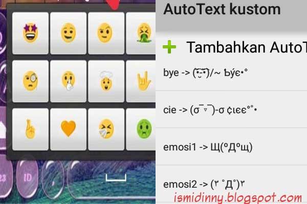 Cara Pasang Emoji Baru [IOS/Emoji Unicode 10 and up] dan AutoText di Keyboard Android Kamu
