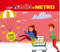 Logo Concorso ''Fai la spesa con Nutella '' vinci buoni spesa Metro da 200€