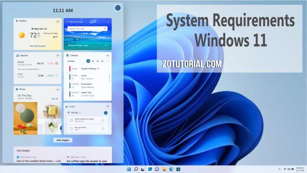 Spek Minimum Untuk Windows 11 (System Requirements) - zotutorial.com