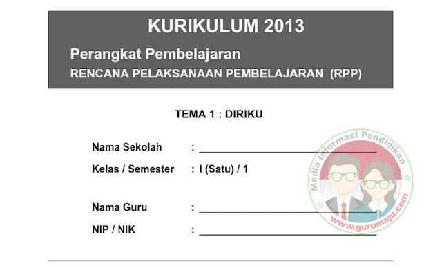 Download RPP SD / MI Kelas 1Kurikulum 2013 Semester 1 & 2 Revisi Terbaru