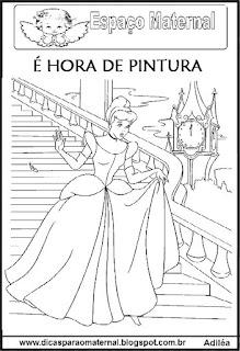 Desenho princesa para colorir