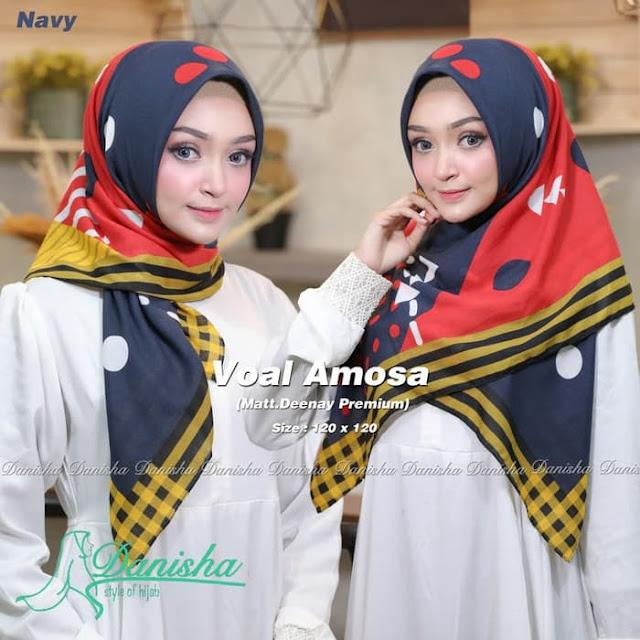 Jilbab Terbaru Segiempat Voal Amosa Original Trendy