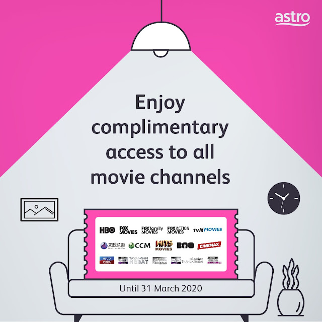 Astro bagi free akses semua saluran filem (18-31 Mac 2020)