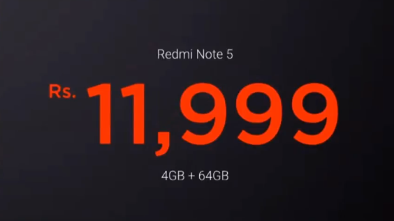 Xiaomi Redmi Note 5 Price Rs
