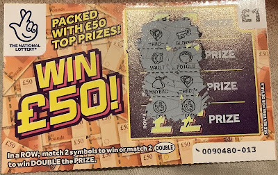 National Lottery Win £50 Scratchcard