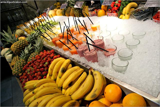 Batidos de Frutas en la Zona de Comida de La Place en Amsterdam