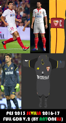 PES 2013 Sevilla 2016-17 Full GDB V.2 with UEFA Europa League Final, UEFA Super Cup & Spanish Super Cup kits