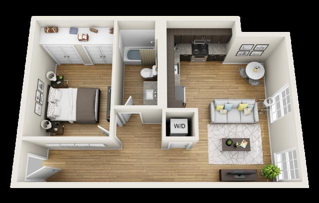 apartement kecil tipe junior
