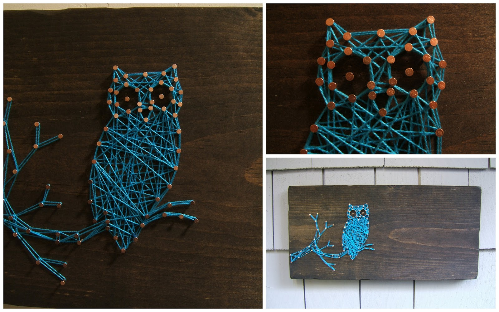 Nail Art Ideas state nail string art : Nine Red: New String Art: The Owl