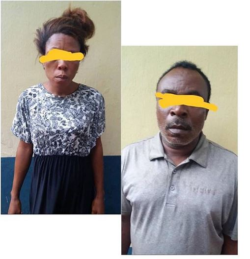 Photo Of Lady Arrested With A Newly Aborted Baby and a Quack Chemist