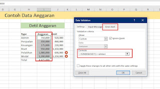 Membatasi Pengeluaran Dana Anggaran di Excel